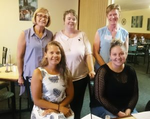 Ardrossan – Attending the Women in Business Regional Network function at Ardrossan Hotel were, at back, Dana Koennecke, Michelle White, Leanne O'Brien with, at front, Kylie Gray and Sarah Oster.