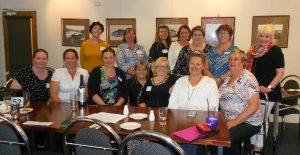 At the Women in Business Regional Network dinner at Victor Harbor were, at front, Kathy Roberts, Annie Somerford-Williams, Lynda Pugliese, Leanne Farr, Gloria Parkin, guest speaker Mary-Lou Griffiths, Anne Evans with, at back, Taryn Richardson, Helen Sampson, Meredith Abbott, Karen Shields, Julie Iwin, founder Carolyn Jeffrey and Karen Preston.
