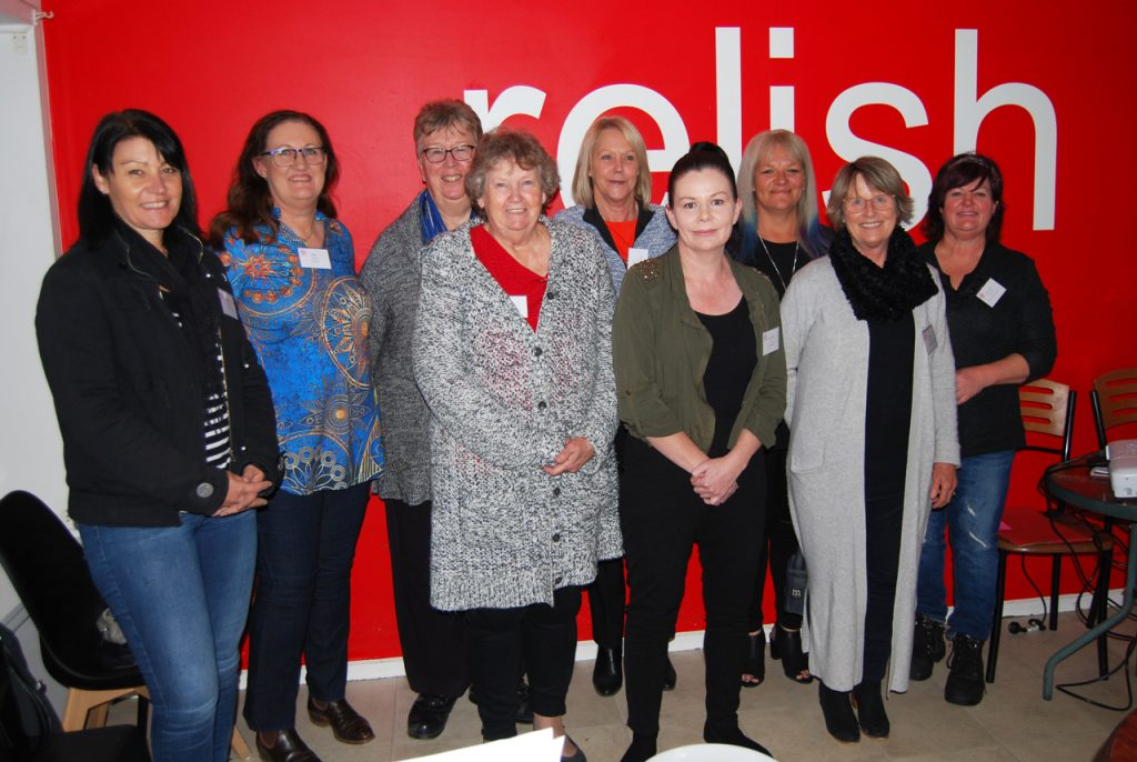 Pictured at the inaugural Port Pirie dinner for the Women in Business Regional Network were Kym Schultz, Dee Scown, Deirdre Kent, Maxine Hawking, Di Brennan, Jeanette Flynn, Cathy Goodenough, Jane Jeffrey and Heather Champion.