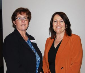 Founder Carolyn Jeffrey and speaker Jo Puplett