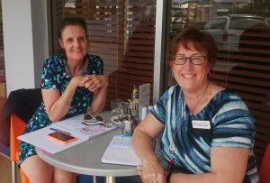 Helen Smith from SAFECOM meeting this week with the network founder Carolyn Jeffrey.